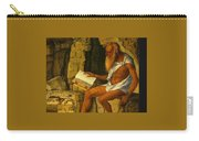 Saint Jerome Reading 1480-1490 Giovanni Bellini Carry-all Pouch