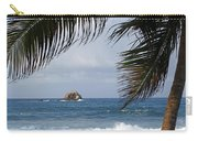 Saint Lucia Palm Tree Small Rock Caribbean Flowing Carry-all Pouch