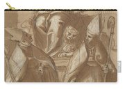 Saint Mark With Two Bishops And Putti Carry-all Pouch