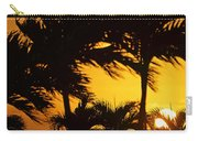 Saint Martin Sunset Through The Palm Trees Carry-all Pouch