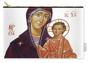 Saint Mary With Baby Jesus Carry-all Pouch