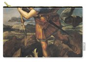 Saint Michael Overwhelming The Demon Carry-all Pouch
