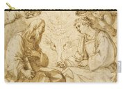 Saint Paul And Saint Stephen Crowned By Angels Carry-all Pouch