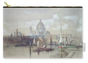 Saint Pauls From The River Carry-all Pouch by David Roberts