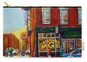 Saint Viareur And Park Avenue Bagel Shop Carry-all Pouch