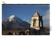 Sajama Volcano And Lagunas Church Belfry Bolivia Carry-all Pouch