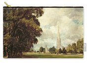 Salisbury Cathedral From Lower Marsh Close Carry-all Pouch