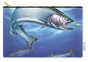 Salmon Painting Carry-all Pouch