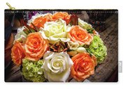 Salmon Rose Bouquet Carry-all Pouch