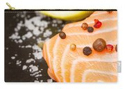 Salmon Steak And Spices Carry-all Pouch