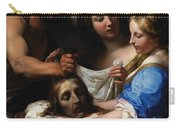 Salome With The Head Of Saint John The Baptist Carry-all Pouch by Onorio Marinari