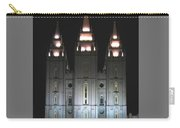Salt Lake City Temple At Night Carry-all Pouch