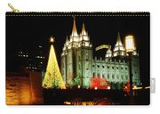Salt Lake Temple Christmas Tree Carry-all Pouch by La Rae  Roberts