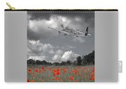 Salute To The Brave - P51 Flying Over Poppy Field Carry-all Pouch