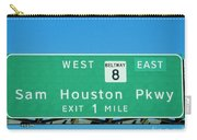 Sam Houston Pkway Carry-all Pouch