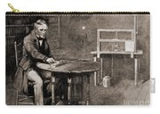 Samuel Morse And Telegraph, 19th Century Carry-all Pouch