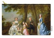 Samuel Richardson Seated With His Family Carry-all Pouch