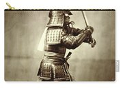Samurai With Raised Sword Carry-all Pouch by F Beato