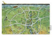 San Antonio Texas Cartoon Map Carry-all Pouch