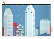 San Diego California Vertical Skyline Carry-all Pouch