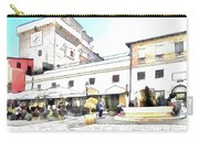 San Felice Circeo Bar And Fountain In The  Square Carry-all Pouch