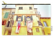 San Felice Circeo Building With The Put Clothes Carry-all Pouch