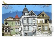 San Francisco Alamo Square - Modern Art Carry-all Pouch