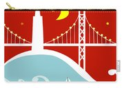 San Francisco California Vertical Scene - East Bay Bridge And Boat Carry-all Pouch