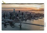 San Francisco City Skyline At Sunset Aerial Carry-all Pouch