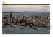 San Francisco City Skyline Panorama At Sunset Aerial Carry-all Pouch