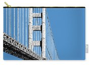 San Francisco Skyline Golden Gate Bridge 2 - Slate Blue Carry-all Pouch