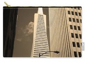 San Francisco - Transamerica Pyramid Sepia Carry-all Pouch