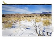 Sand And Snow Carry-all Pouch by Mike  Dawson