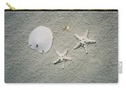Sand Dollar And Starfish On The Beach Carry-all Pouch