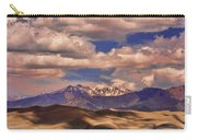 Sand Dunes - Mountains - Snow- Clouds And Shadows Carry-all Pouch