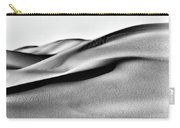 Sand Dunes Black And White Carry-all Pouch