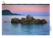 Sand Rocks In The Sea At Sunset Carry-all Pouch