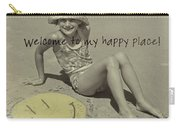 Sand Smile Quote Carry-all Pouch