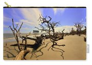 Sand Sun Beach And Little Blue Carry-all Pouch by Lisa Wooten