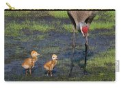 Sandhill Crane And Babies Carry-all Pouch