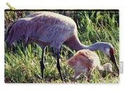 Sandhill Crane And Chick Carry-all Pouch