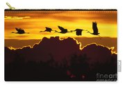 Sandhill Crane At Sunset Carry-all Pouch