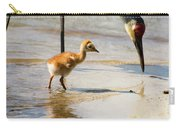 Sandhill Crane With Chick Carry-all Pouch