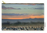 Sandhill Cranes And Snow Geese Carry-all Pouch