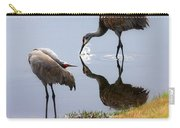 Sandhill Cranes Reflection On Pond Carry-all Pouch