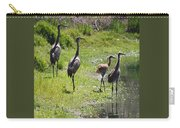 Sandhill Family By The Pond Carry-all Pouch