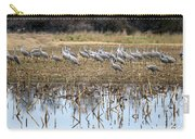 Sandhill Herd By Pond Carry-all Pouch