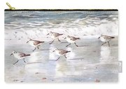 Sandpipers On Siesta Key Carry-all Pouch by Shawn McLoughlin
