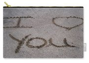Sandscript - I Love You Carry-all Pouch
