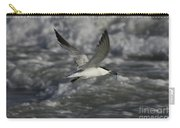 Sandwhich Tern Flies Over Stormy Waves Carry-all Pouch